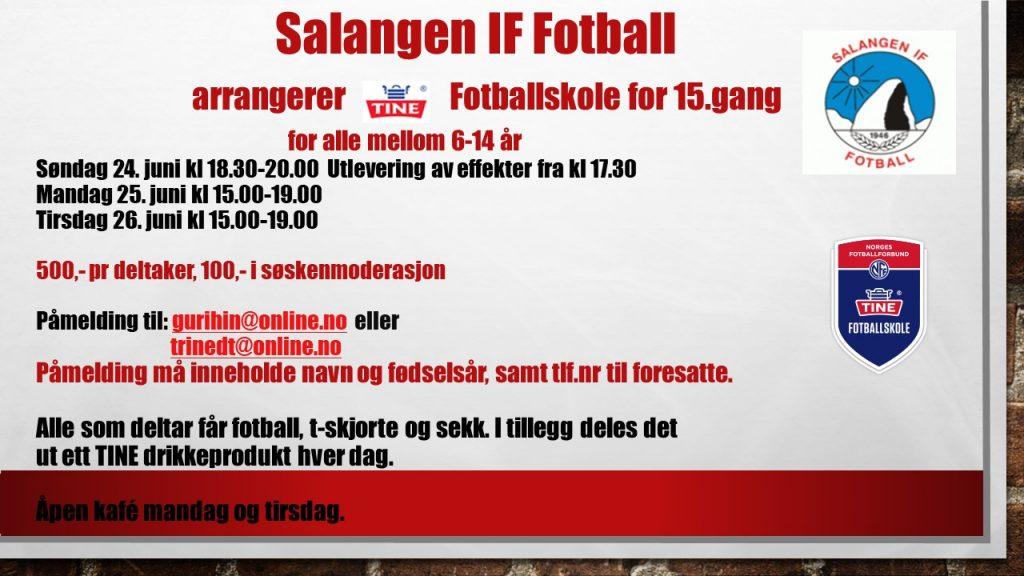 SIF fotballs Tine Fotballskole 2018